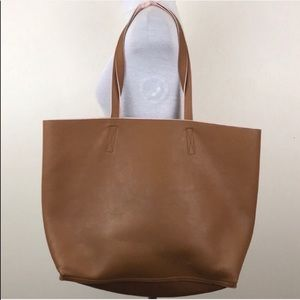 Old Navy Tan Pink Reversible Shoulder Tote Bag